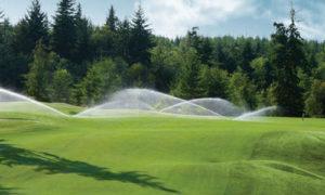 полив поля для гольфа